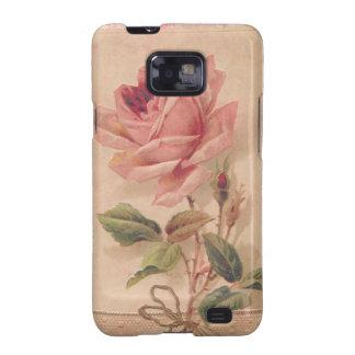 Rosa francés del Victorian subió Samsung Galaxy S2 Fundas
