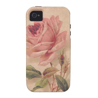 Rosa francés del Victorian subió iPhone 4/4S Carcasa