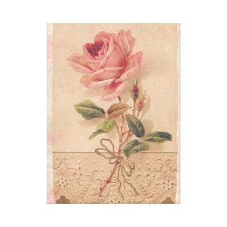 Rosa francés del Victorian subió Impresión En Lona Estirada