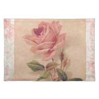 Rosa francés del Victorian subió Manteles Individuales