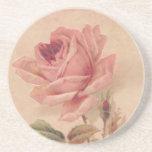 Rosa francés del Victorian subió Posavasos Personalizados