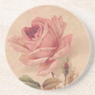 Rosa francés del Victorian subió Posavasos De Arenisca