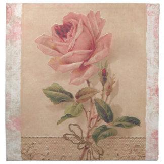 Rosa francés del Victorian subió Servilletas