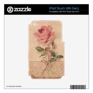 Rosa francés del Victorian subió iPod Touch 4G Skin
