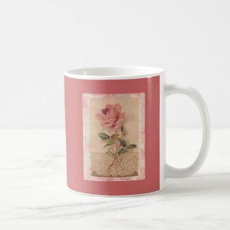 Rosa francés del Victorian subió Tazas De Café