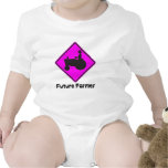 Rosa futuro del granjero traje de bebé