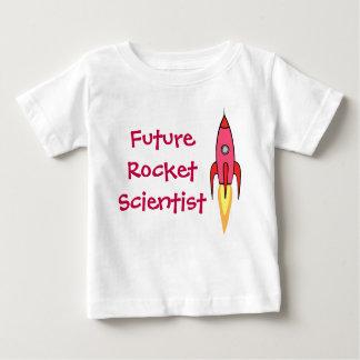 Rosa futuro Rocketship del científico de Rocket Playera De Bebé