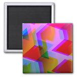 rosa geométrico 06 imán para frigorífico