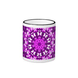 Rosa geométrico del arte islámico taza a dos colores