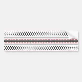 Rosa geométrico del modelo de la impresión tribal pegatina para auto