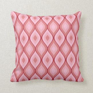 Rosa geométrico oval Curvy del | Almohadas