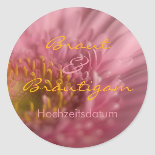 Rosa Gerbera • Save the Date Sticker