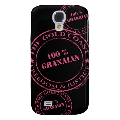 rosa ghanés del 100 por ciento funda para galaxy s4