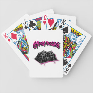 Rosa gitano del campo del orgullo barajas de cartas