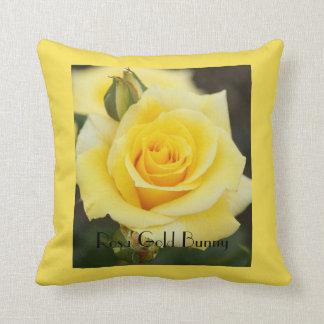Rosa Gold Bunny Throw Pillow