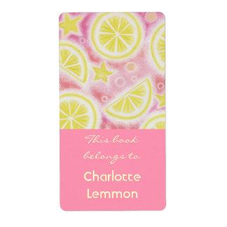Rosa grande de la limonada de la etiqueta rosada d etiqueta de envío