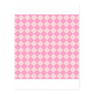 Rosa grande de los Rhombus - palidezca - y rosa Postales