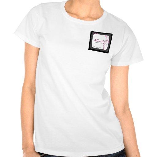 Rosa gris del negro moderno del alto estilo camiseta