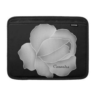 Rosa gris pálido bonito personalizado fundas MacBook
