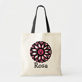 Rosa Happy Flower Personalized Tote Bag