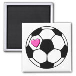 Rosa Hrt del balón de fútbol Iman De Frigorífico