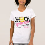 Rosa ido polluelo para mi cáncer de pecho de la camiseta