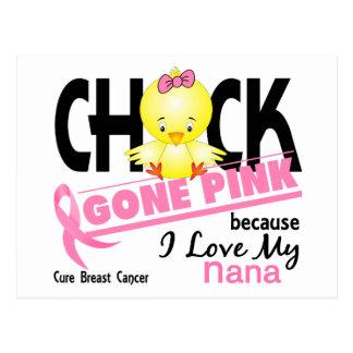 Rosa ido polluelo para mi cáncer de pecho de Nana Tarjeta Postal