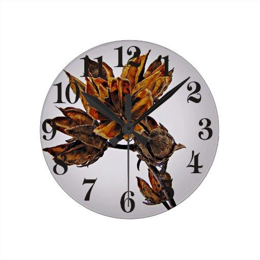 Rosa inactivo del invierno de Sharon Reloj Redondo Mediano