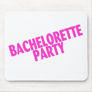 Rosa inclinado fiesta de Bachelorette Tapete De Ratones