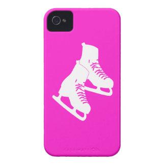 Rosa intrépido de los patines de hielo de Blackber iPhone 4 Case-Mate Funda