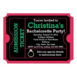 Rosa/invitación del billete de grupo de Bacheloret