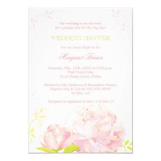 Rosa + Invitaciones elegantes de la ducha del boda Anuncios