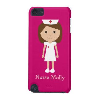 Rosa lindo de la enfermera del dibujo animado del