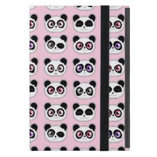 Rosa lindo de las expresiones de la panda iPad mini protector