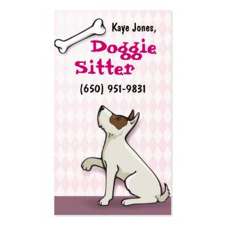 Rosa lindo de las tarjetas de visita del perrito
