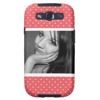 Rosa lindo de Polkadots con la foto grande Galaxy SIII Coberturas