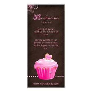 Rosa lindo del folleto de la tarjeta del estante diseño de tarjeta publicitaria