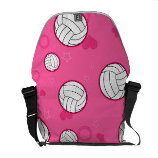 Rosa lindo del modelo del voleibol bolsa messenger