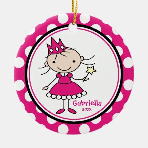 ROSA lindo del ornamento del navidad de Prinncess Ornamento De Reyes Magos