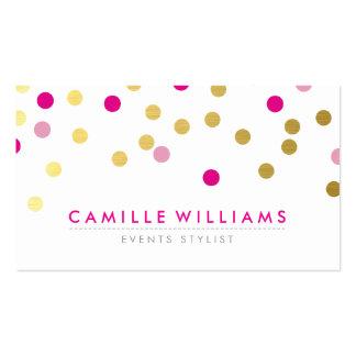 Rosa lindo moderno del bonito del oro del modelo tarjetas de visita