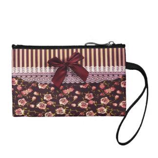 Rosa lindo y flores del vintage de Brown