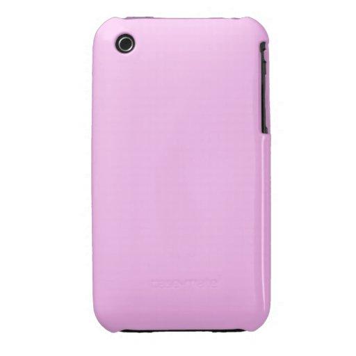 Rosa llano Case-Mate iPhone 3 coberturas