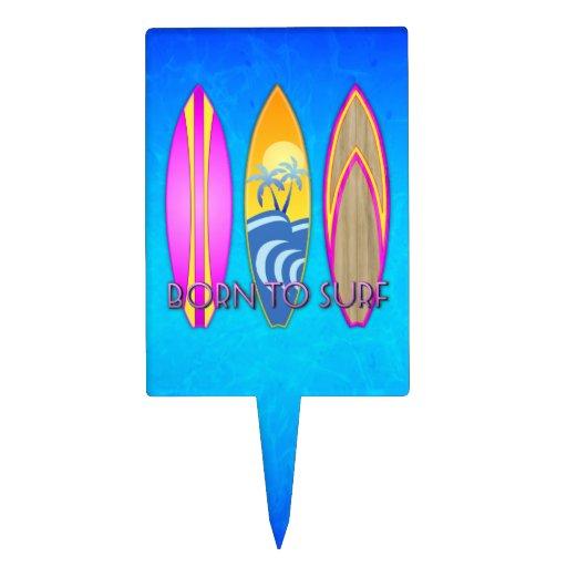 Rosa llevado para practicar surf figuras para tartas