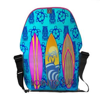 Rosa llevado para practicar surf bolsas de mensajeria