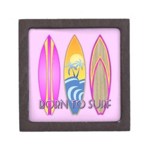 Rosa llevado para practicar surf cajas de regalo de calidad