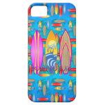 Rosa llevado para practicar surf iPhone 5 Case-Mate cobertura