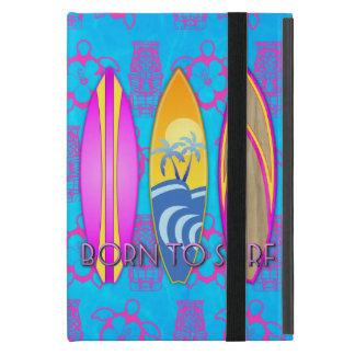 Rosa llevado para practicar surf iPad mini coberturas