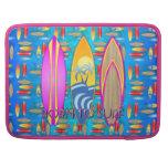 Rosa llevado para practicar surf fundas macbook pro