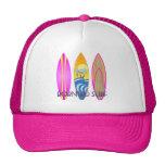 Rosa llevado para practicar surf gorras
