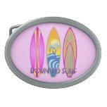 Rosa llevado para practicar surf hebillas de cinturon